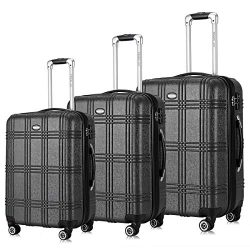 Travel Joy Expandable Spinner Luggage Set,TSA lightweight Hardside Luggage Sets, 20″ 24 ...