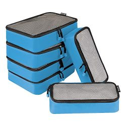 BAGAIL 6 Set Net Packing Cubes Multi-Functional Luggage Packing Organizers for Travel Accessories