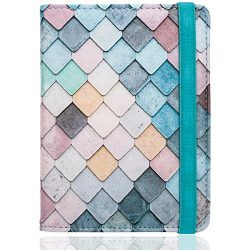 WALNEW RFID Passport Holder Cover Traveling Passport Case (A-Diamond)