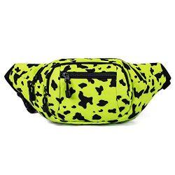 TOPERIN Cute Fanny Packs for Women Men Running Belt Waist Pack Waist Bag Yellow
