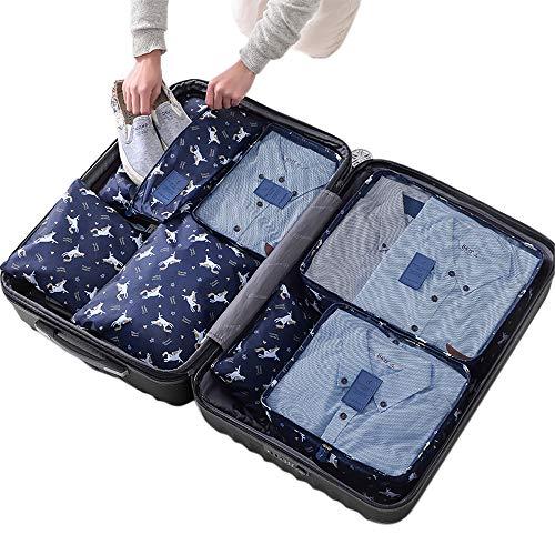 Sackorange 7 Set Travel Storage Bags Packing cubes Multi-functional Clothing Sorting Packages,Tr ...