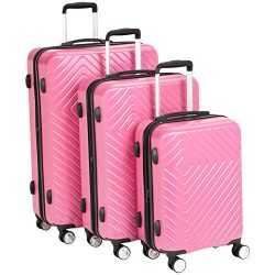 AmazonBasics Geometric Luggage Expandable Suitcase Spinner – 3 Piece Set (20″, 24 ...