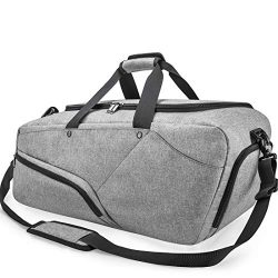Gym Bag Sports Duffle Bag with Shoes Compartment Waterproof Large Travel Duffel Bags Weekender O ...