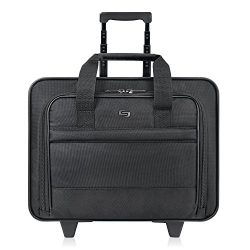 Solo New York Carnegie Rolling Laptop Bag.  Slim, Compact Design Rolling Case for Women and Men. ...