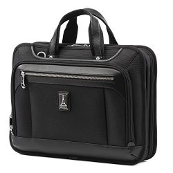 Travelpro Luggage Platinum Elite 16″ Carry-on Slim Business Computer Briefcase, Shadow Bla ...