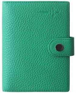 Passport Holder Cover Cute US Slim Ultra RFID Blocking family 2 Passport Wallet Green for Women  ...