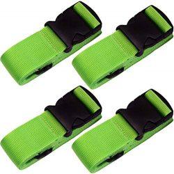 TRANVERS Travel Suitcase Strap Belt Luggage Strap For Suitcase Safe Belt 4-Pack Green