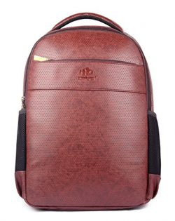 Signature Laptop Backpack | 31 ltrs Synthetic Leather Backpack for 15.6″ Laptop | Casual T ...