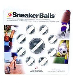Sof Sole Sneaker Balls Shoe, Gym Bag, and Locker Deodorizer, 3 Pair (Black & White Value Pack)