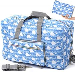 Foldable Travel Duffle Bag for Women Girls Large Cute Floral Weekender Overnight Carry On Bag fo ...