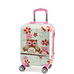 Lttxin Kids' suitcase 19 inch Polycarbonate Carry On Luggage Lovely Hard Shell(upgrade per ...