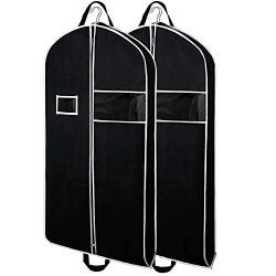Zilink Garment Bags Suit Bag for Travel 43-inch Breathable Suit Garment Cover with Clear Window  ...