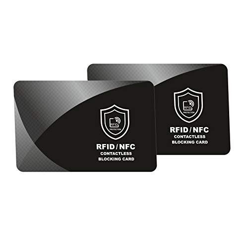 2 x RFID Blocking Card | NFC Contactless Cards Protection | Protect Your Entire Wallet | No More ...