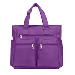 Waterproof Nylon Oxford Multi-pocket Tote Bags Fashion Travel Laptop Briefcase Work Purse for Wo ...