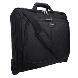 Partage Carry on Garment Bag for Travel, Waterproof Hanging Suit, Black