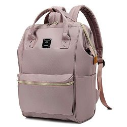 Bebamour Casual College Backpack Lightweight Travel Wide Open Back to School Backpack for Women& ...