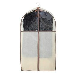 Smart Design Canvas Gusseted Suit Garment Bag w/ Cedar & Zipper – VentilAir Mesh Mater ...