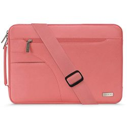 MOSISO Laptop Shoulder Bag Compatible 15-15.6 Inch MacBook Pro, Ultrabook Netbook Tablet, Polyes ...