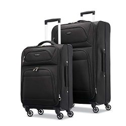 Samsonite Transyt Expandable Softside Luggage Set with Spinner Wheels, 2-Piece (20″/28R ...