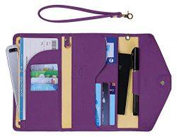 Zoppen Passport Holder for Women Travel Wallet Rfid Blocking Passport Cover Document Organizer W ...