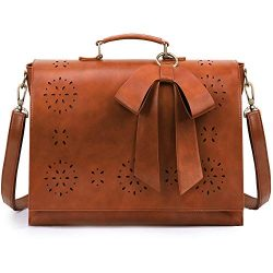 ECOSUSI Women's Briefcase PU Leather 15.6 inch Laptop Bag Shoulder Computer Satchel Bag wi ...