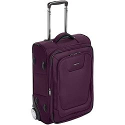 AmazonBasics Expandable Softside Carry-On Luggage Suitcase With TSA Lock And Wheels – 22 I ...