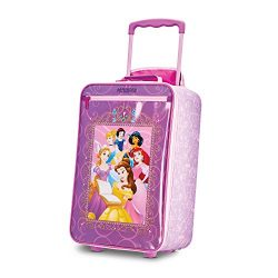 American Tourister Disney Kids Princess Softside Upright, 18 Inch, 2