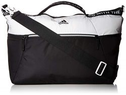 adidas Studio III Duffel Bag, White/Black, One Size