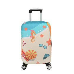 Fvstar Beach Travel Luggage Cover Washable Luggage Cover Spandex Suitcase Protector Cove Baggage ...