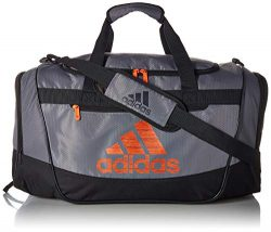 adidas Defender III Duffel Bag, Grey/Night Grey/True Orange, One Size