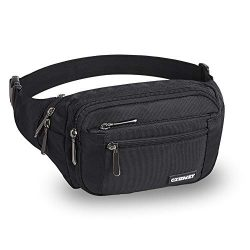 CXWMZY Waist Pack Bag Fanny Pack for Men&Women Hip Bum Bag with Large Capacity Waterproof Ad ...