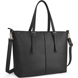 Laptop Tote Bag for Women 15.6 Inch Waterproof Lightweight Leather Computer Laptop Bag Women Bus ...