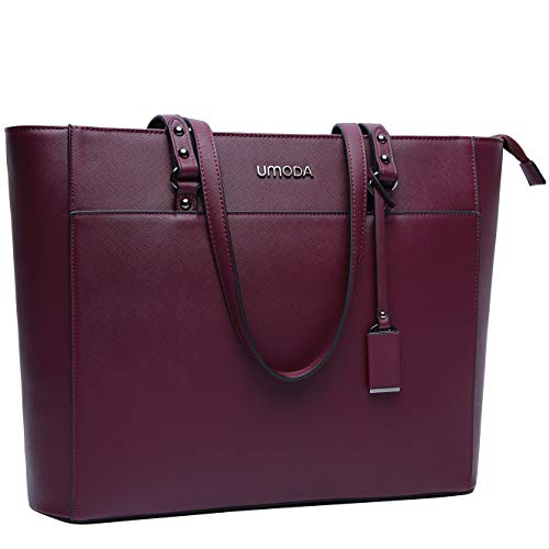 Laptop Bag for Women,Multi Pocket Work Bag,15.6 Laptop Bag for Business,Dark Purple