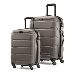 Samsonite Omni PC Expandable Hardside Luggage Set with Spinner Wheels, 2-Piece (20/24), Silver