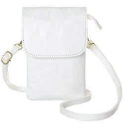 MINICAT Roomy Pockets Series Small Crossbody Bags Cell Phone Purse Wallet For Women (Kraft Paper ...
