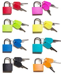 Padlock, (8 Pack) Small Padlock with Key for The Luggage Lock, Backpack,Gym Locker Lock,Suitcase ...