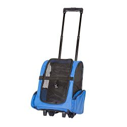 Peach Tree Pet Travel Rolling Backpack Rolling Carrier for Dogs Pet Carrier with Wheels Rolling  ...