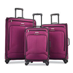 American Tourister Pop Max 3-Piece Softside (sp21/25/29) Luggage Set with Spinner Wheels, Berry