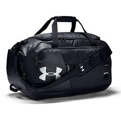 Under Armour unisex-adult Undeniable Duffle 4.0 Gym Bag, Black (001)/Silver, Medium