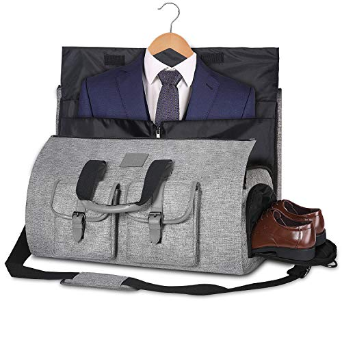 Carry-on Garment Bag Large Duffel Bag Suit Travel Bag Weekend Bag Flight Bag with Shoe Pouch for ...