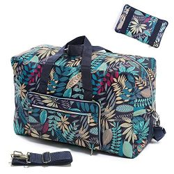 Womens Foldable Travel Duffel Bag 50L Large Cute Floral Travel Bag Weekender Overnight Carry On  ...