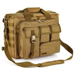 15.6″ Large Men's Laptop Messenger Bag Multifunction Tactical Briefcase Outdoor Mili ...