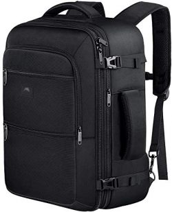 Vancropak 40L Flight Approved Weekender Carry On Backpack, Expandable Large Travel Backpacks Bag ...