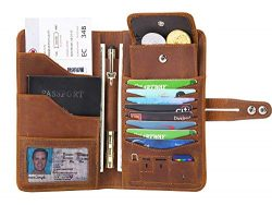 Travel Wallet with RFID Blocking Awesome Passport Wallet Credit Cards Holder Document Organizer  ...