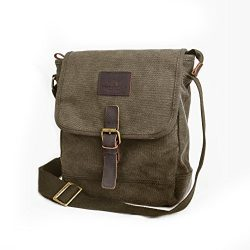 Canvas Messenger Bag TOPWOLF Small Crossbody Bag Casual Travel Working Tools Bag Shoulder Bag Ho ...