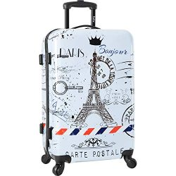 Wembley 20″ Hardside Carry-on 4wheel Spinner Luggage, Love From Paris