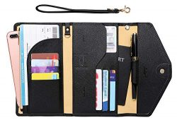 Zoppen Passport Holder Travel Wallet (Ver.5) for Women Rfid Blocking Multi-purpose Passport Cove ...