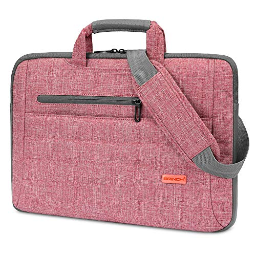 BRINCH Laptop Bag for Women Slim Light Business Briefcase Shoulder Messenger Bag Water Resistant ...