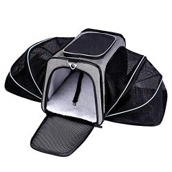 Cat Carriers Expandable Airline Approved Pet Carrier for Cats and Dogs Soft Sided Travel Carrier ...