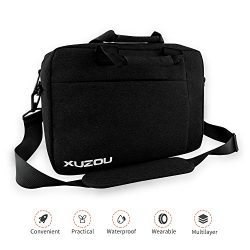 Laptop Briefcase, 15.6 Inch Laptop Bag, Stylish Nylon Multi-Functional Shoulder Messenger Bag fo ...